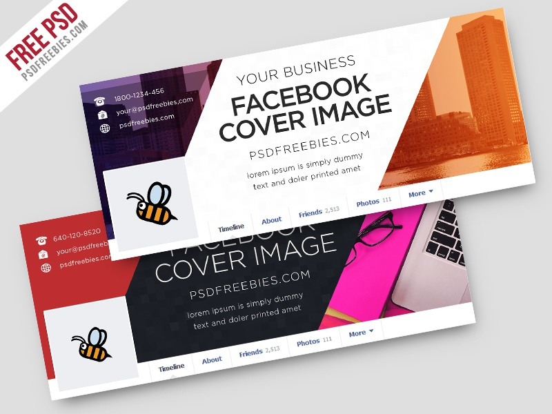 Freebie Corporate Facebook Covers Free Psd Template