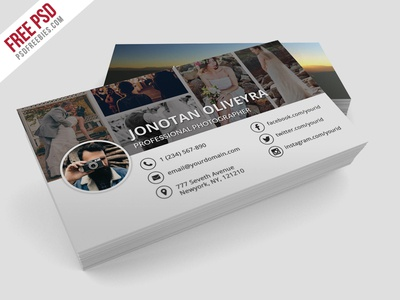 Freebie : Professional Photographer Business Card PSD psd freebie free psd free download psd free card free business card download business card design photographer business card