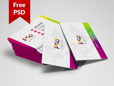 Freebie: Colorful Business Card Free PSD Graphics