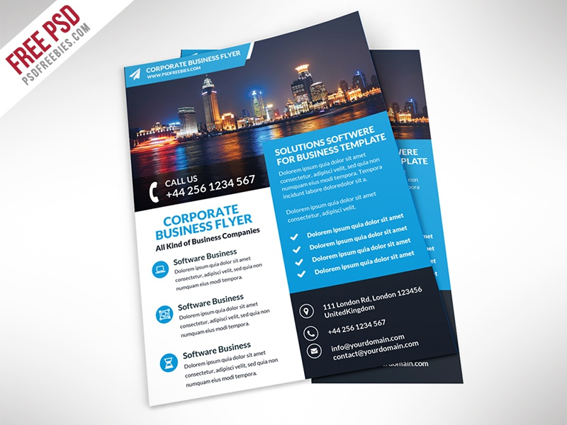 freebie corporate business flyer free psd template by psd freebies