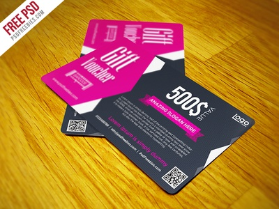 Freebie Gift Voucher Coupon Free Psd Template By Psd Freebies