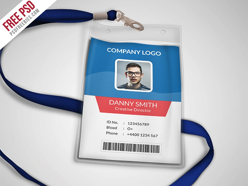 Multipurpose Company Id Card Free Psd Template By PSD Freebies - Card template free: employee id card template