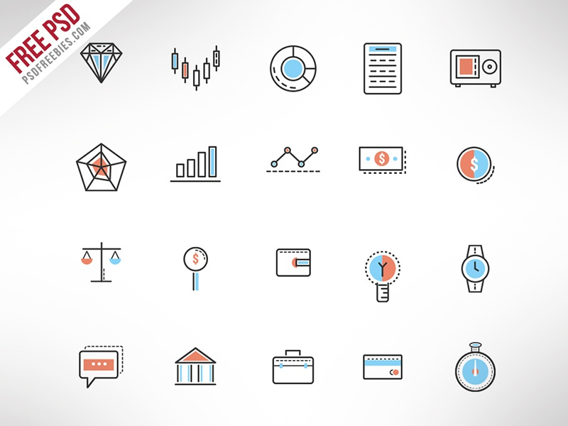 Freebie : Investment Doodle Icon Set Free PSD finance icons investment icons icon set icon freebie freebie doodle iconset doodle icons psd icon psd free psd free icon set free icons