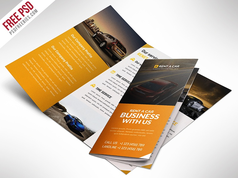 Freebie : Car Dealer And Services Trifold Brochure PSD trifold freebie free psd brochure free psd free brochure download psd psd catalog car repairs car rental car dealer car brochure