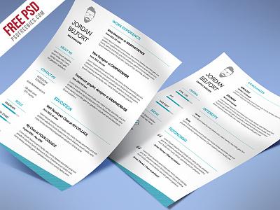Freebie : Minimal And Clean Resume Free Psd Template web developer resume resume psd clean resume cv template corporate download job resume free psd psd designer resume resume cv