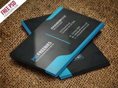 Graphic Designer Business Card Template Free PSD By PSD Freebies - Free business card templates