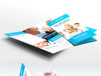 Medical Care And Hospital Trifold Brochure Template Free PSD By - Medical tri fold brochure templates for free