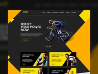 Sports shop website multipurpose free psd template preview