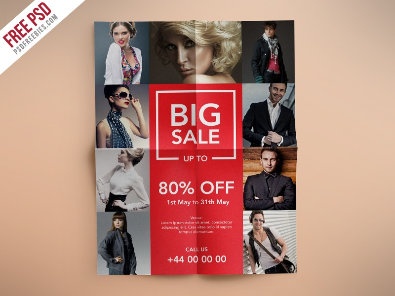 freebie fashion retail sales flyers free psd template by psd