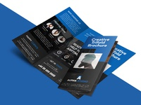 Creative agency trifold brochure free psd template 02
