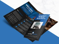 Creative agency trifold brochure free psd template 01