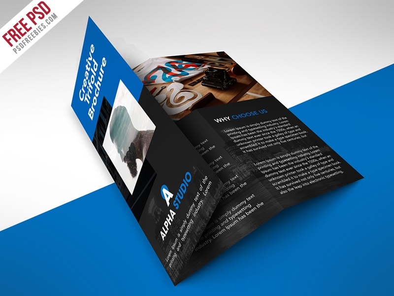 Freebie Creative Agency Trifold Brochure Free Psd Template By - Tri fold brochure psd template