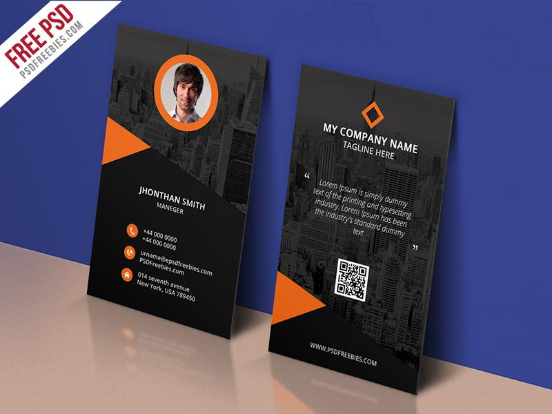 Freebie Modern Corporate Business Card Template Free Psd