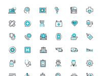 Healthcare and medicine icon set free psd preview