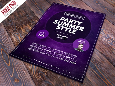 Freebie : Summer Party Flyer Free Psd Template cocktail flyer psd summer party flyer psd free flyer template nightclub party flyer party flyer creative flyer psd freebie psd template flyer psd psd free psd