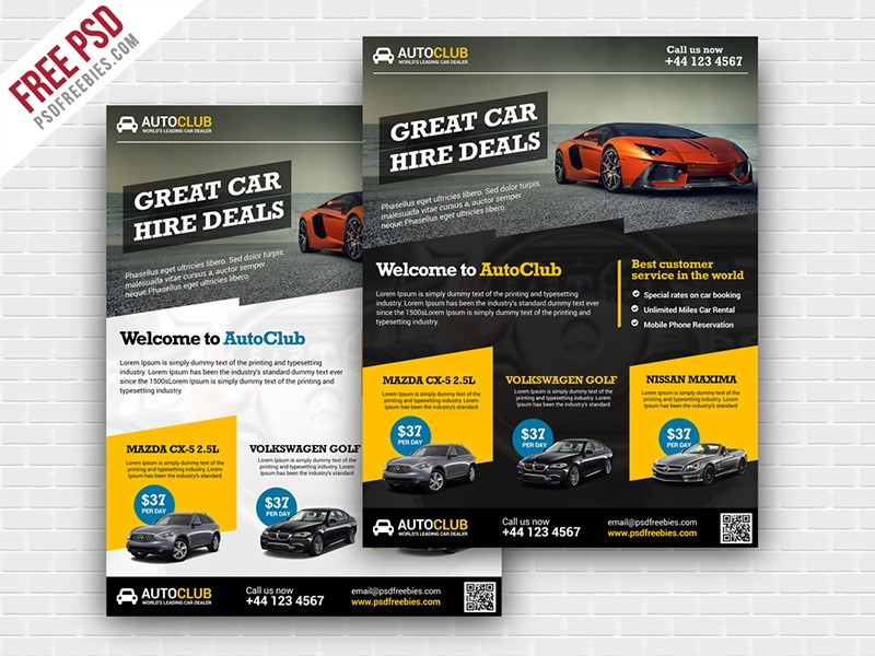 Freebie Cars Rental Flyer Free Psd Template By Psd Freebies
