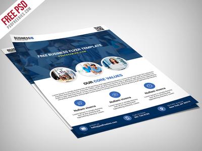 Freebie : Multipurpose Business Flyer Free PSD