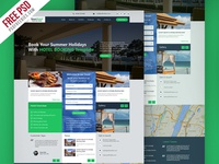 Freebie Hotel And Resort Booking Website Template Free Psd By Freebies Dribbble