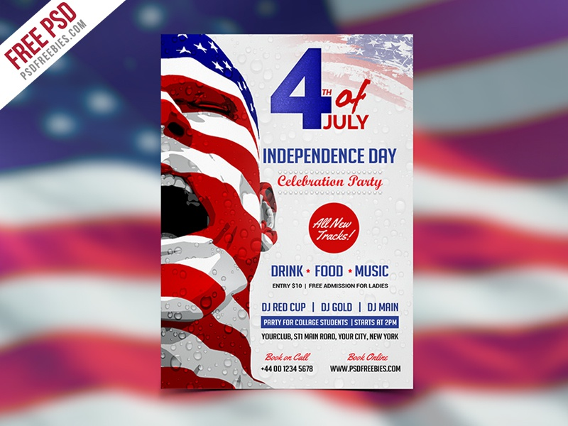 Freebie : Usa Independence Day Flyer Template Free Psd By Psd
