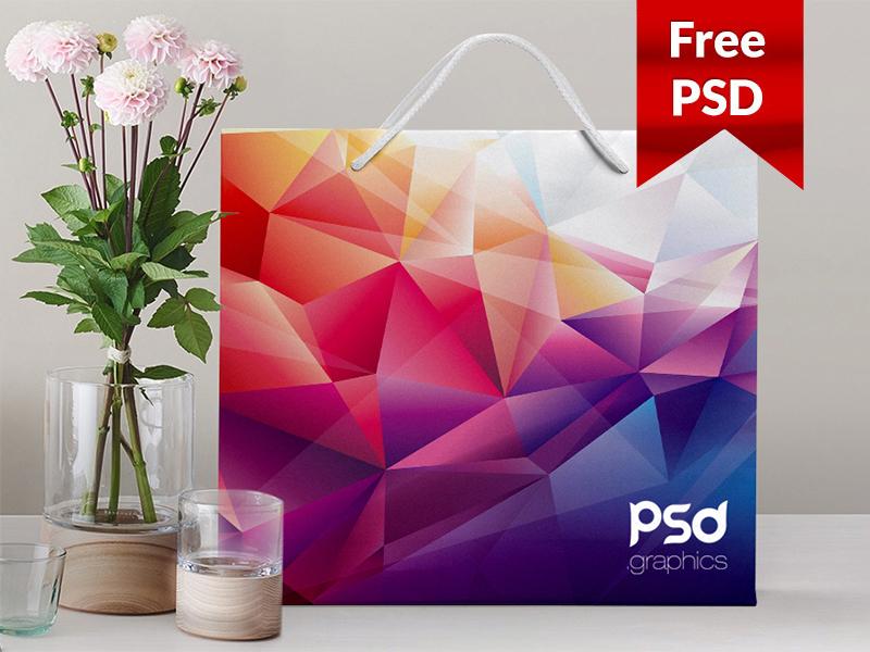 Shopping Paper Bag Mockup Free PSD Graphics free graphics download mockup psd psd graphics psdgraphics freebie freepsd psd free psd paper bag mockup shopping