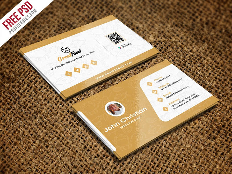 restaurant chef business card template free psd d restaurant business card visiting card psd chef business