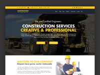 construction company website template free psd preview