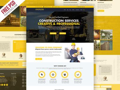 Freebie : Construction Company Website Template Free PSD by PSD ...