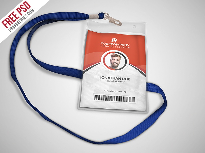 freebie multipurpose office id card template psd by psd freebies