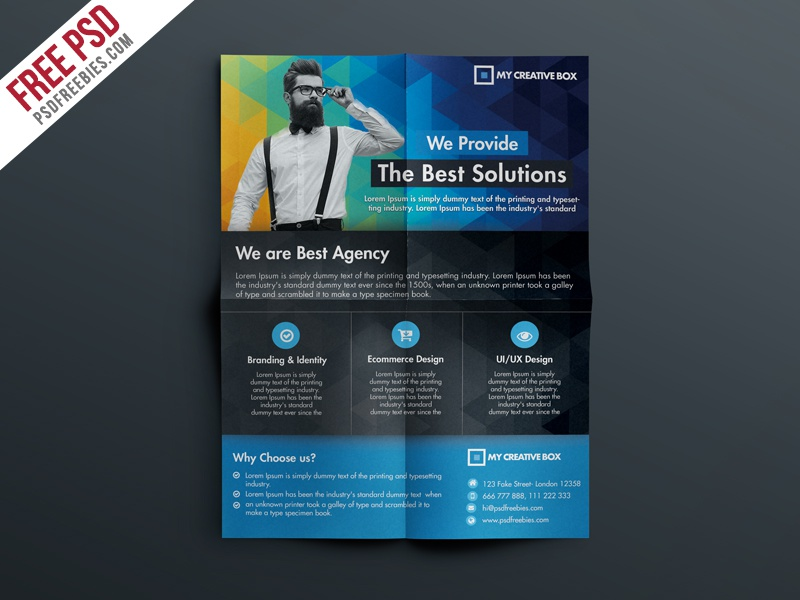 Free Multipurpose Corporate Flyer Template Psd By Psd Freebies