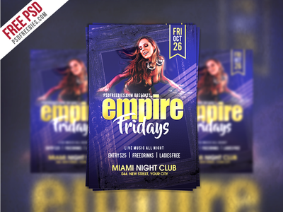 Freebie Friday Party Flyer Template Free Psd By Psd Freebies