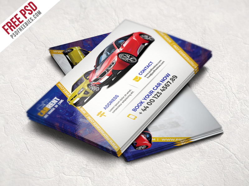 Creative business cards designs on dribbble freebie car dealer business card template free psd accmission Gallery