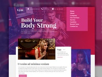 Fitness website template free psd preview