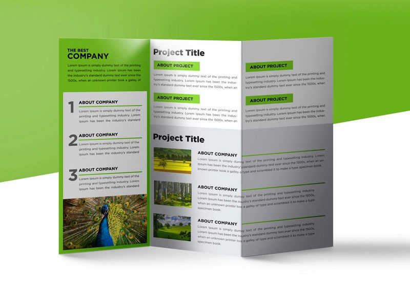 nature tri fold brochure template free psd 03 - Folding Brochure Template Free