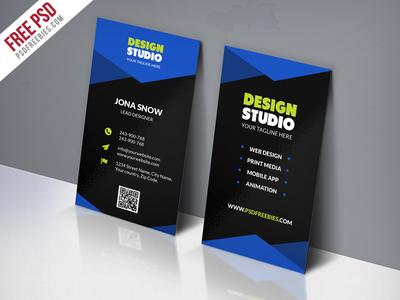 Freebie Design Studio Business Card Template Free PSD By PSD - Free design business card templates
