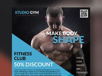 Health and fitness flyer bundle free psd blue
