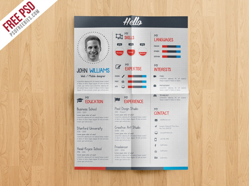 freebie creative resume cv template free psd by psd freebies