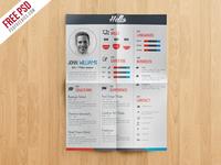 Freebie : Creative Resume CV Template Free PSD