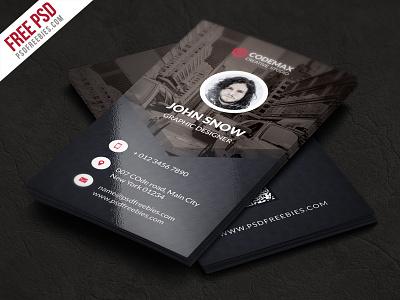 Freebie : Modern Business Card Free Psd Template psd designer professional photoshop personal graphic verical print template business card freebie premium psd free psd