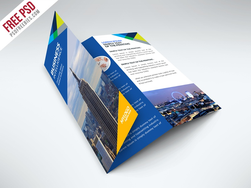 Free business trifold brochure psd template by psd for Pamphlet photoshop template