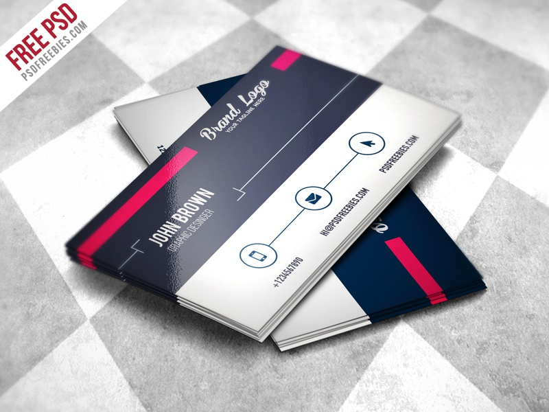 Freebie : Modern Business Card Design Template Free PSD By PSD Freebies