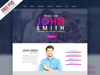 Creative one page portfolio website template free psd preview