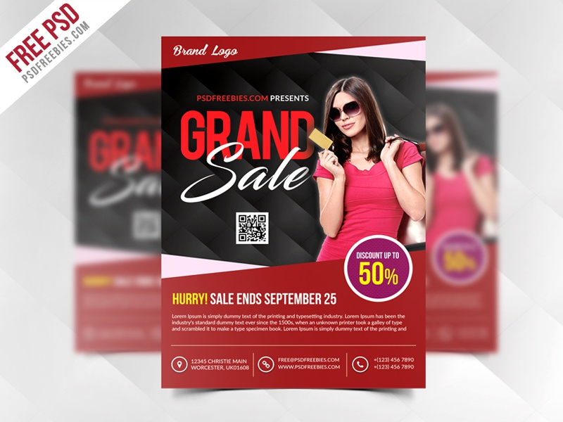 freebie grand sale flyer template free psd by psd freebies