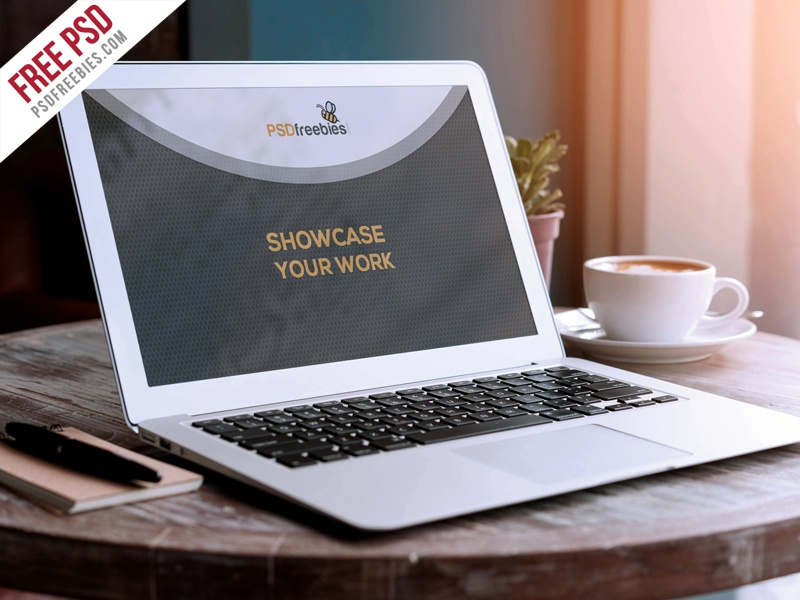 Macbook Air Mockup PSD Freebie note book free psd psd mockup mockup psd mockup template apple macbook psd mockup free bownload showcase freebie macbook air