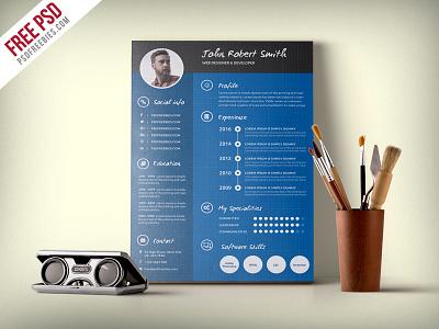 Creative And Professional Resume CV Free PSD Template modern print cv premium psd download a4 professional creative job cv template freebie psd free psd