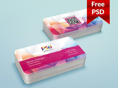 Freebie rounded business card template psd by psd freebies dribbble freebie rounded business card template psd reheart Images