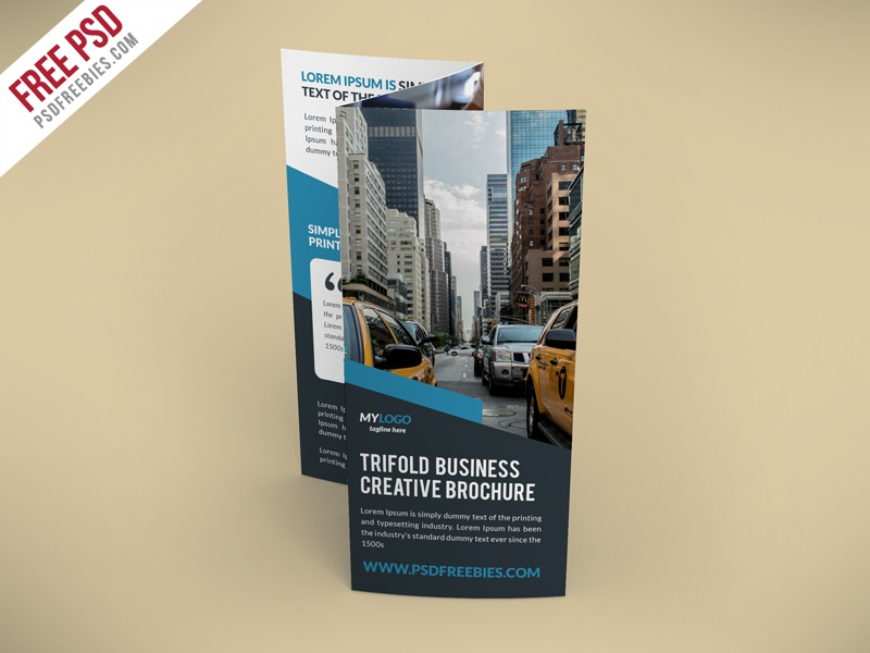 freebie creative trifold brochure free psd template by psd