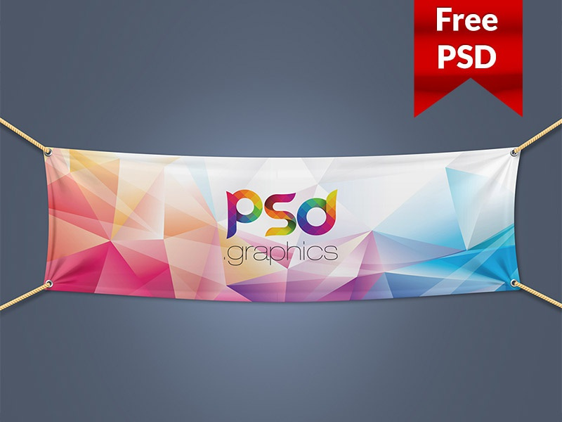 Textile Fabric Banner Mockup Free PSD by PSD Freebies ...