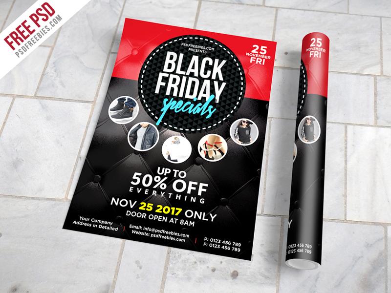 freebie black friday sale flyer free psd by psd freebies