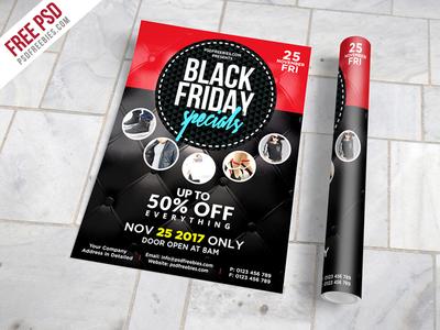 Freebie : Black Friday Sale Flyer Free PSD