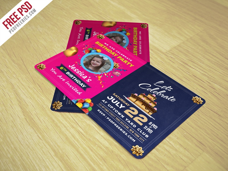 freebie birthday invitation card template free psd by psd freebies